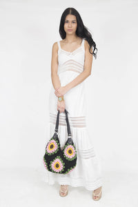 Designer Summer Cotton Dress- Veronica White
