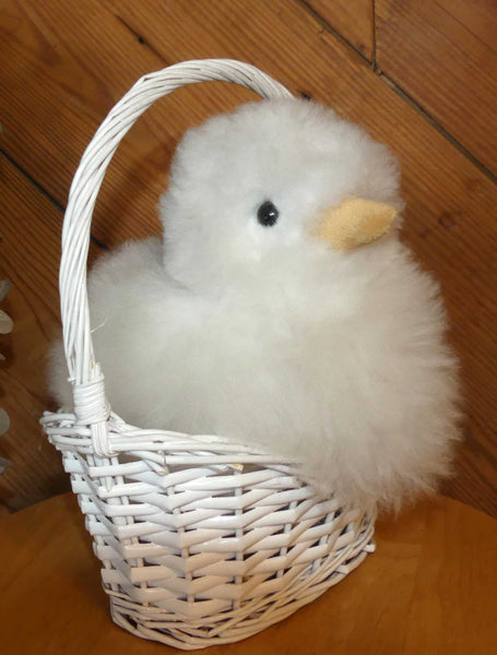 Alpaca Stuffed Toy - White Chick