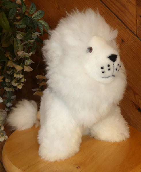 Alpaca Stuffed Toy - White Lion