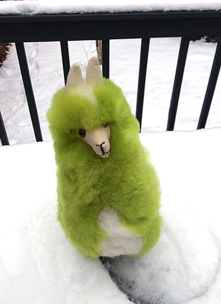 Alpaca Stuffed Toy - Lime Green Alpaca