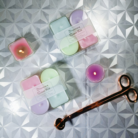 tealight candles in our Discovery Scent Kit