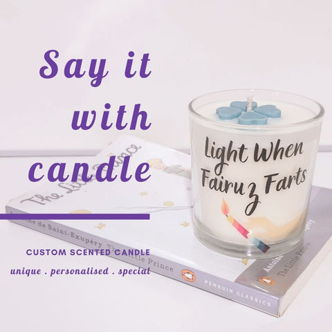 example of custom scented candle