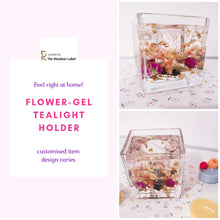 Load image into Gallery viewer, flower gel tealight holder is customised item with variable designs 1