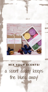 mix your scents and purchase these as samples!