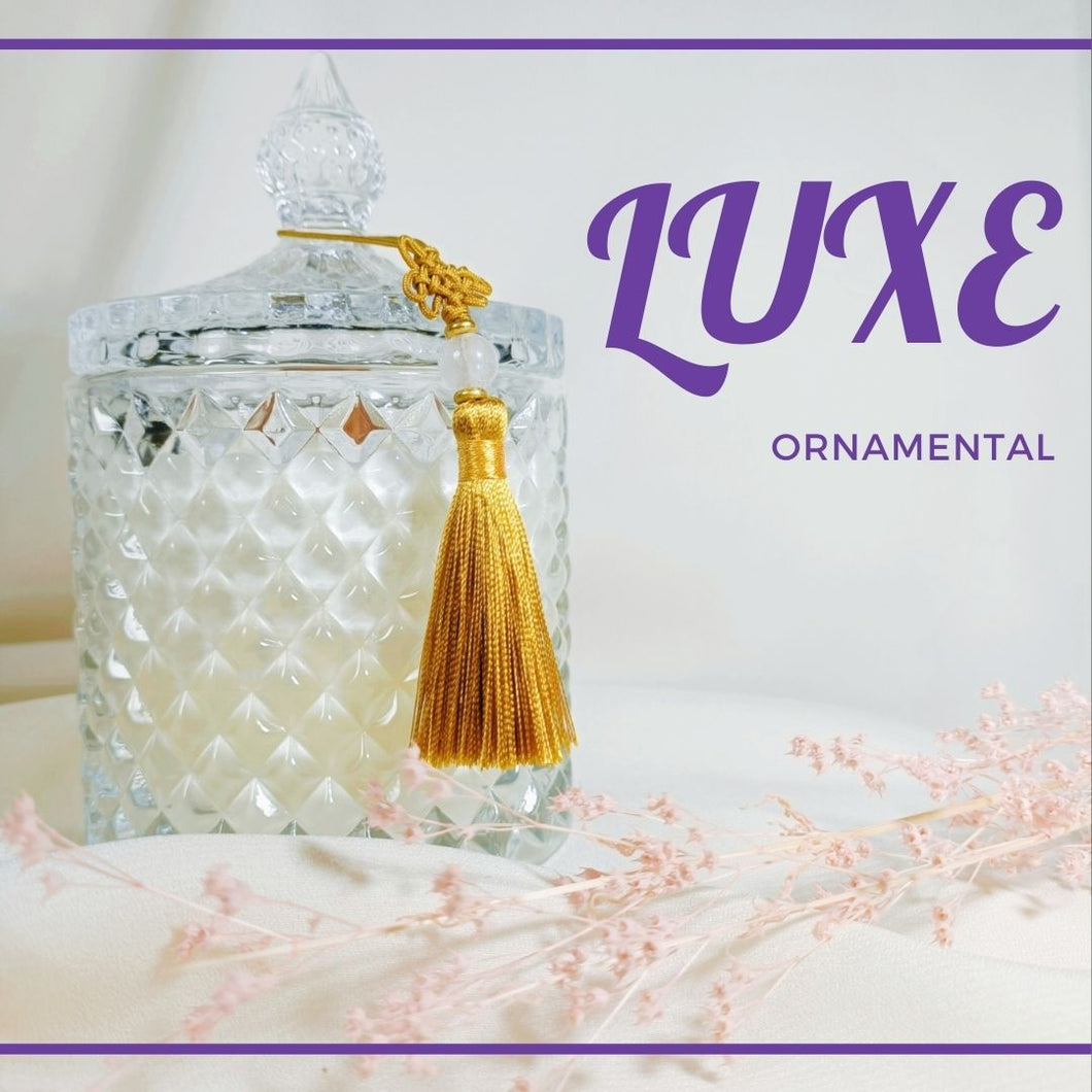 our candles are handpoured in crystal vessels to create a modernized look and feel