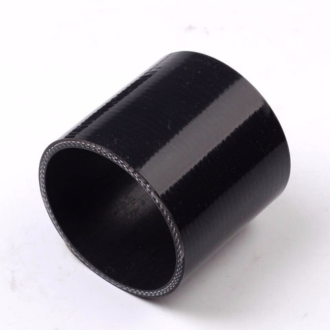 "2.25"" 4-ply straight silicone turbo/intake pipe coupler reducer hose black 2 1/4 F1 Racing"