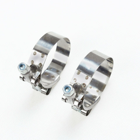 "2X 2""/51mm Stainless Steel T-Bolt Clamps Turbo Intake Silicone Hose Coupler Clamp F1 Racing"