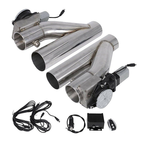 "2X 2.5""E-Cut Out Valve Electric Exhaust Downpipe And CONTROLLER REMOTE KIT X1 F1 Racing"