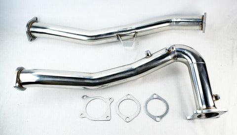 "3"" Turbo Hi-Flow Downpipe Exhaust Pipe for Subaru WRX Manual 2.0L 2015-2019 F1 RACING"
