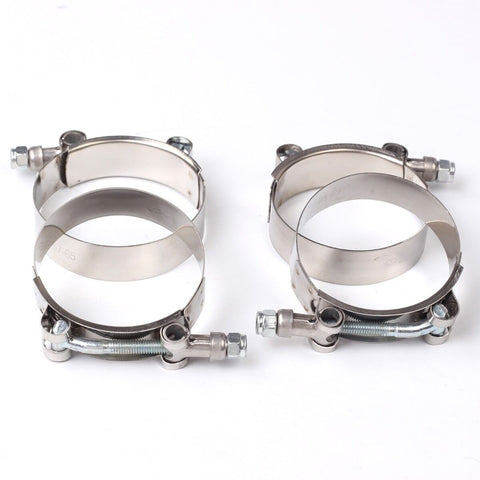 "4X 3-1/2"" Stainless Steel T-Bolt Clamps Turbo Intake Silicone Hose Coulper Clamp F1 Racing"