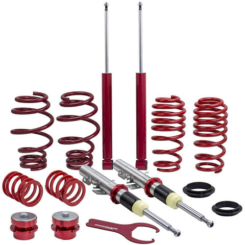 Coil Spring Suspension Absorber Coilovers Kit For VW Volkswagen Polo Mk4 Typ 9N AP-PLUS