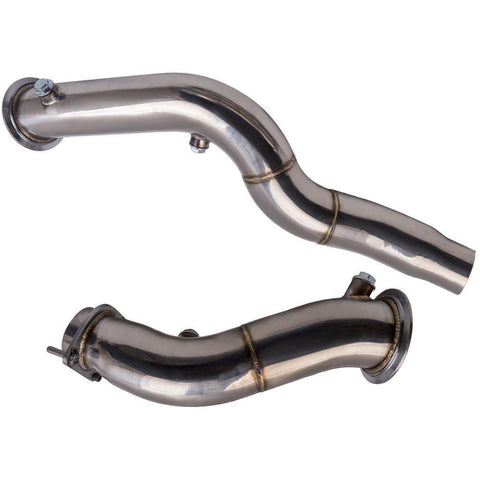 Exhaust Downpipe 3inch for BMW M3 M4 Twin Turbo M2 S55 F82 F8X F80 F83 Down Pipe MaxSpeedingRods