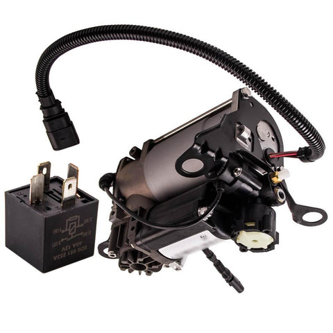 For Auid A8/S8 D3 4E 03-10 4E0616007E Air Suspension Air Compressor Pump + Relay MaxSpeedingRods