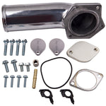For Ford 6.4L 391CI Powerstroke 2008-2010 EGR Valve Delete Kit w/ Intake Elbow MaxSpeedingRods