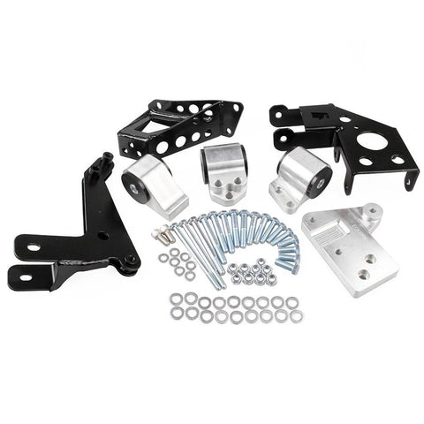 K-Series Billet Motor Mount Swap Kit - 92-95 EG K20 K24 - (Silver) Dynamic Performance Tuning
