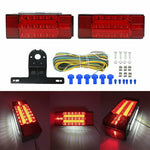 NEW Rectangle LED Submersible Red Trailer Boat Stud Stop Turn Tail Lights Kit F1 RACING