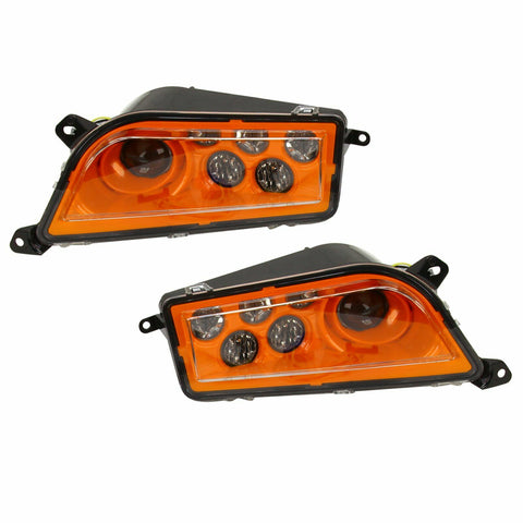 ORANGE FOR 16-18 POLARIS GENERAL 1000 LED HEADLIGHT CONVERSION KIT F1 RACING