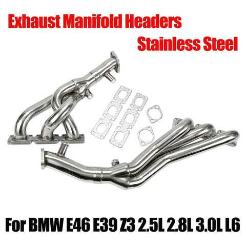Performance Exhaust Manifold Headers FITS BMW E46 E39 Z3 2.5L 2.8L 3.0L L6 F1 Racing