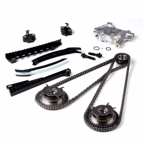 Timing Chain HP Oil Pump Kit+Cam Phasers Fit 2004-2008 Ford F150 Lincoln 5.4L 3V F1 Racing
