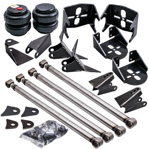Weld-On Triangulated 4 Link Kit Brackets 2500 Bags Air Ride Suspension 2.75 axle MaxSpeedingRods