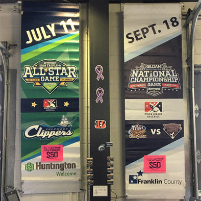 Columbus Clippers 2018 Triple-A All-Star Game and National Championship Banners