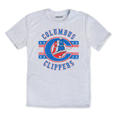 Columbus Clippers Where I'm From Retro Stars Tee