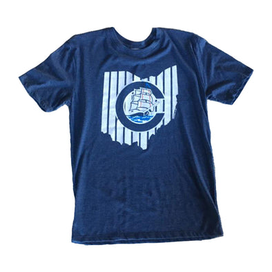 Columbus Clippers Where I'm From Pinstripe State Tee