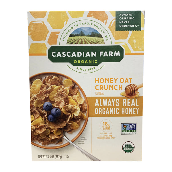 CLOSE OUT SPECIAL! Cascadian Farms Organic Honey Oat Crunch (1 box)