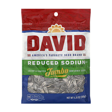 David's Reduced Sodium Sunflowers Seeds (case of 12)