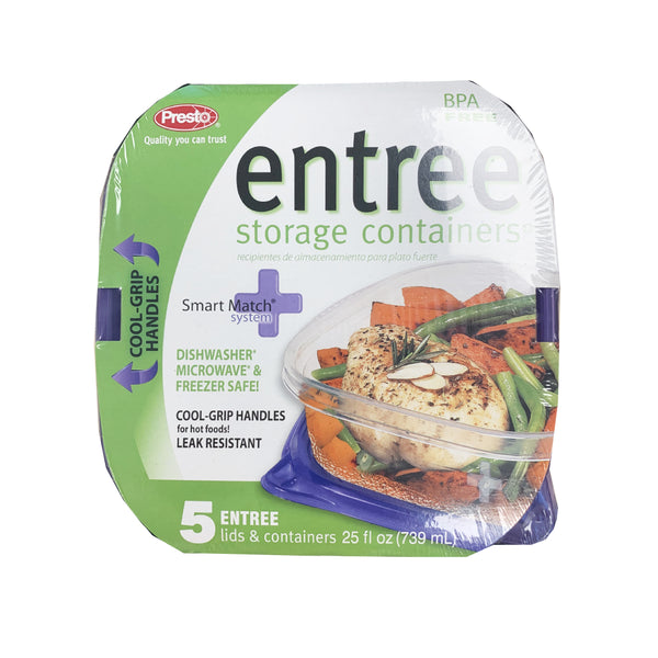 CLOSE OUT SPECIAL! Presto Entree Storage Containers (5 count)