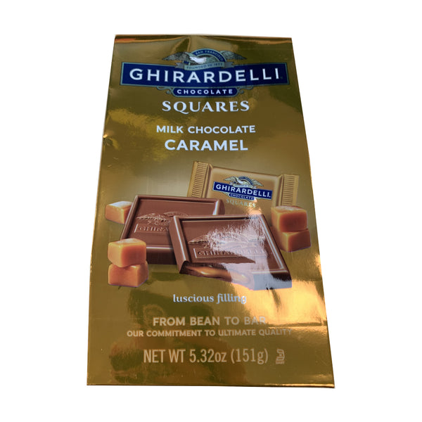 CLOSE OUT SPECIAL! Ghirardelli Milk Chocolate Caramel Squares (box of 6)