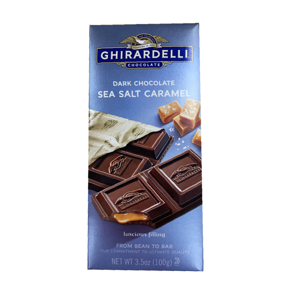 CLOSE OUT SPECIAL! Ghirardelli Dark Chocolate Sea Salt Caramel Bar (box of 12)