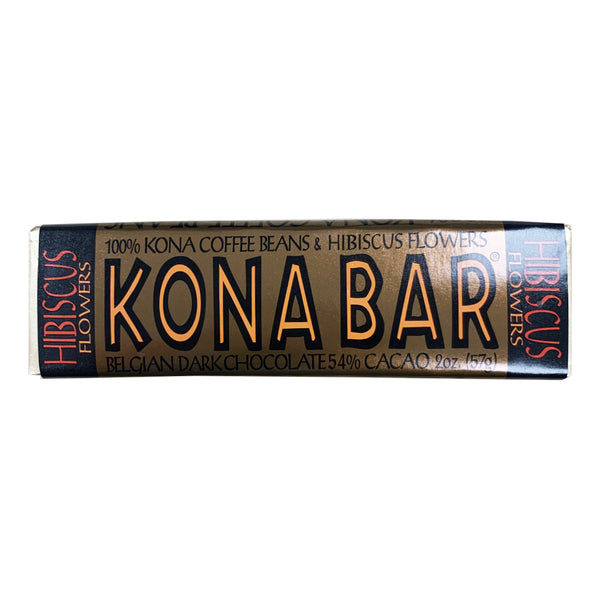 CLOSE OUT SPECIAL! Kona Bar Dark Chocolate with Hibiscus (6 bars)