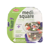 CLOSE OUT SPECIAL! Presto Medium Square Storage Containers (4 count)
