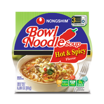 Nongshim Bowl Noodle Hot & Spicy (case of 12)