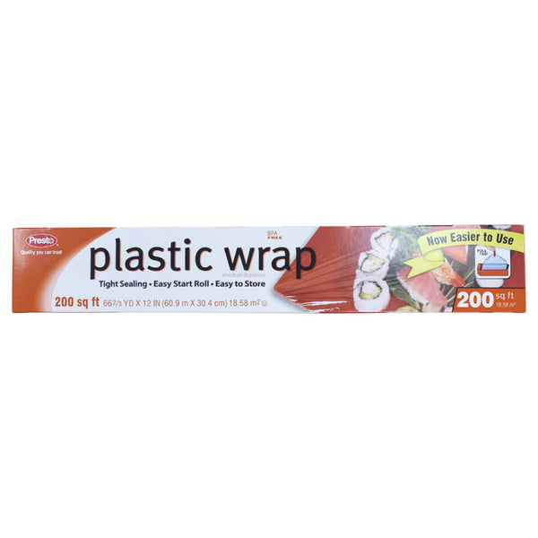 CLOSE OUT SPECIAL! Presto Plastic Wrap (200 sq ft roll)