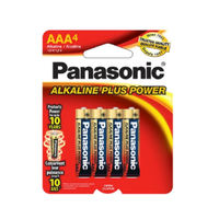 Panasonic Alkaline Plus Power 4/pk AAA batteries (box of 12)