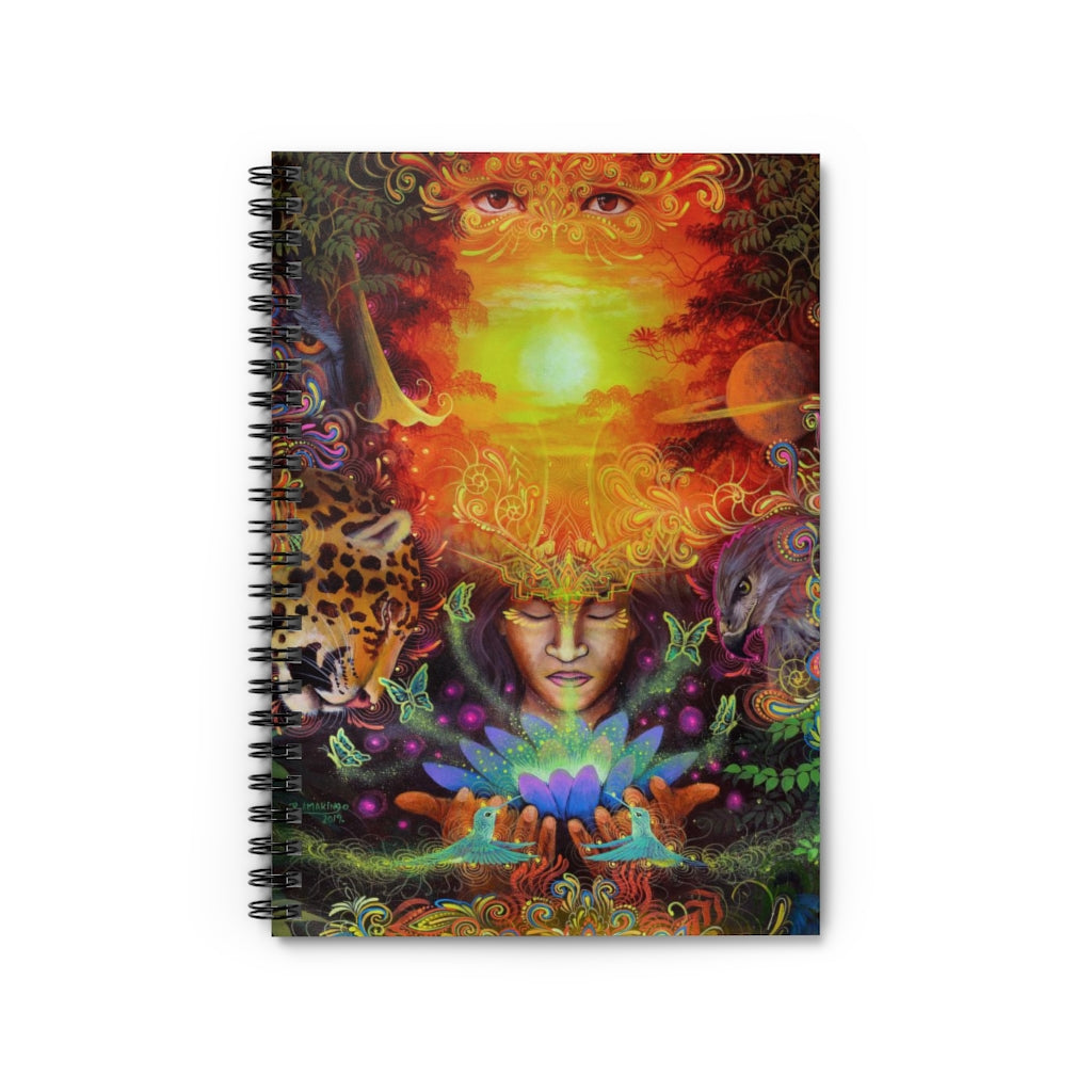Visions of the Jungle Spiral Notebook - w. Ruled Line
