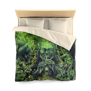 Jungle Melodies Microfiber Duvet Cover (Queen Size)