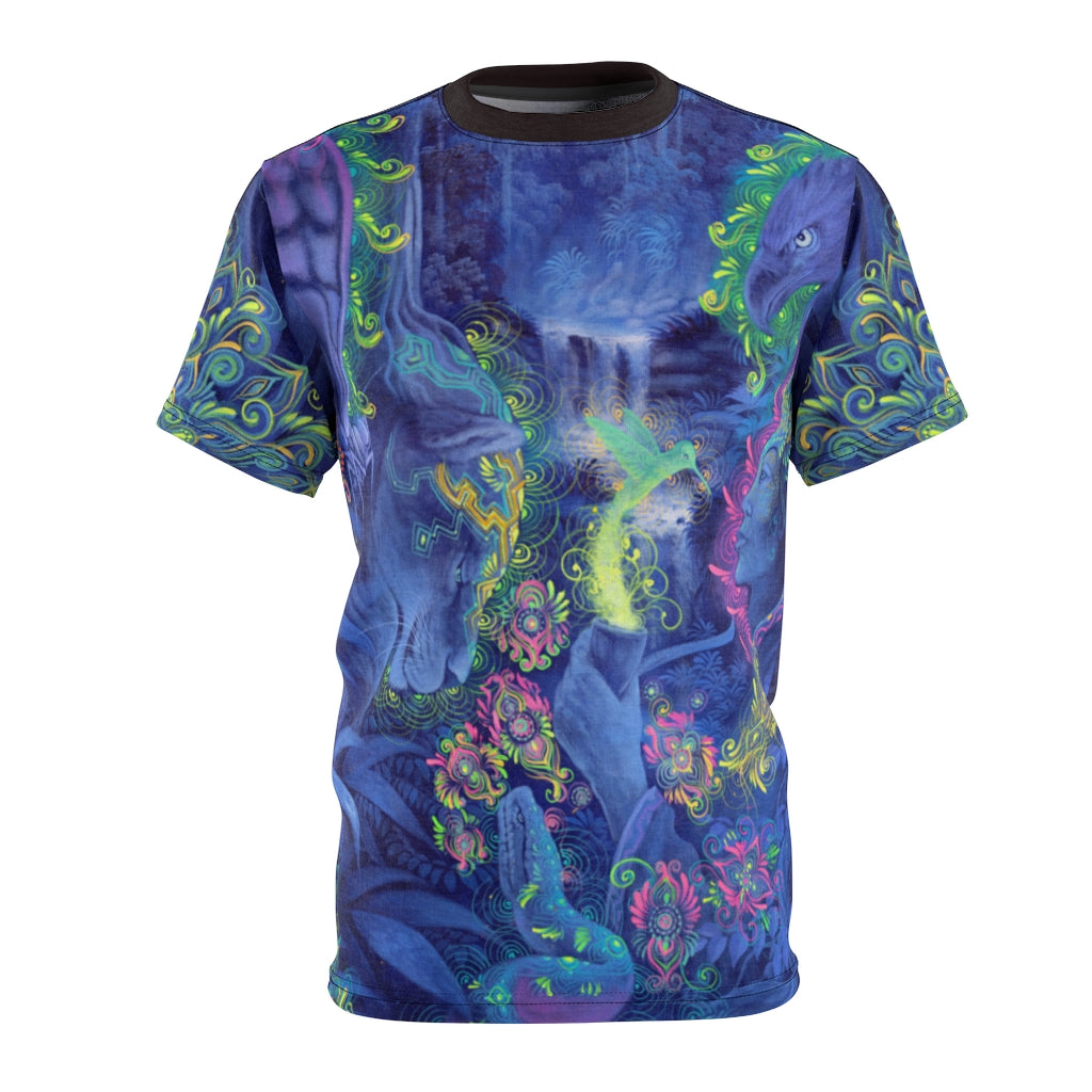 Indigo Twilight Ayahuasca Vision All-Over Print Unisex Tee