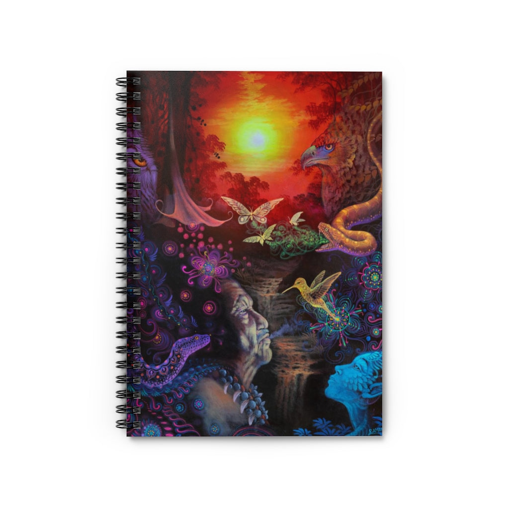 The Shaman Spiral Notebook - Ruled Line