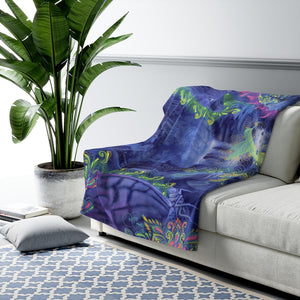 Indigo Twilight - Sherpa Fleece Blanket
