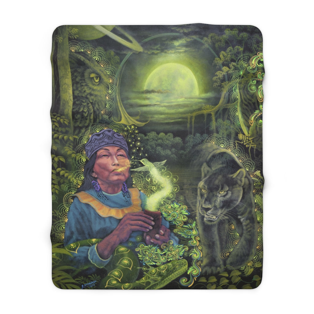 Moon Guidance - Sherpa Fleece Blanket