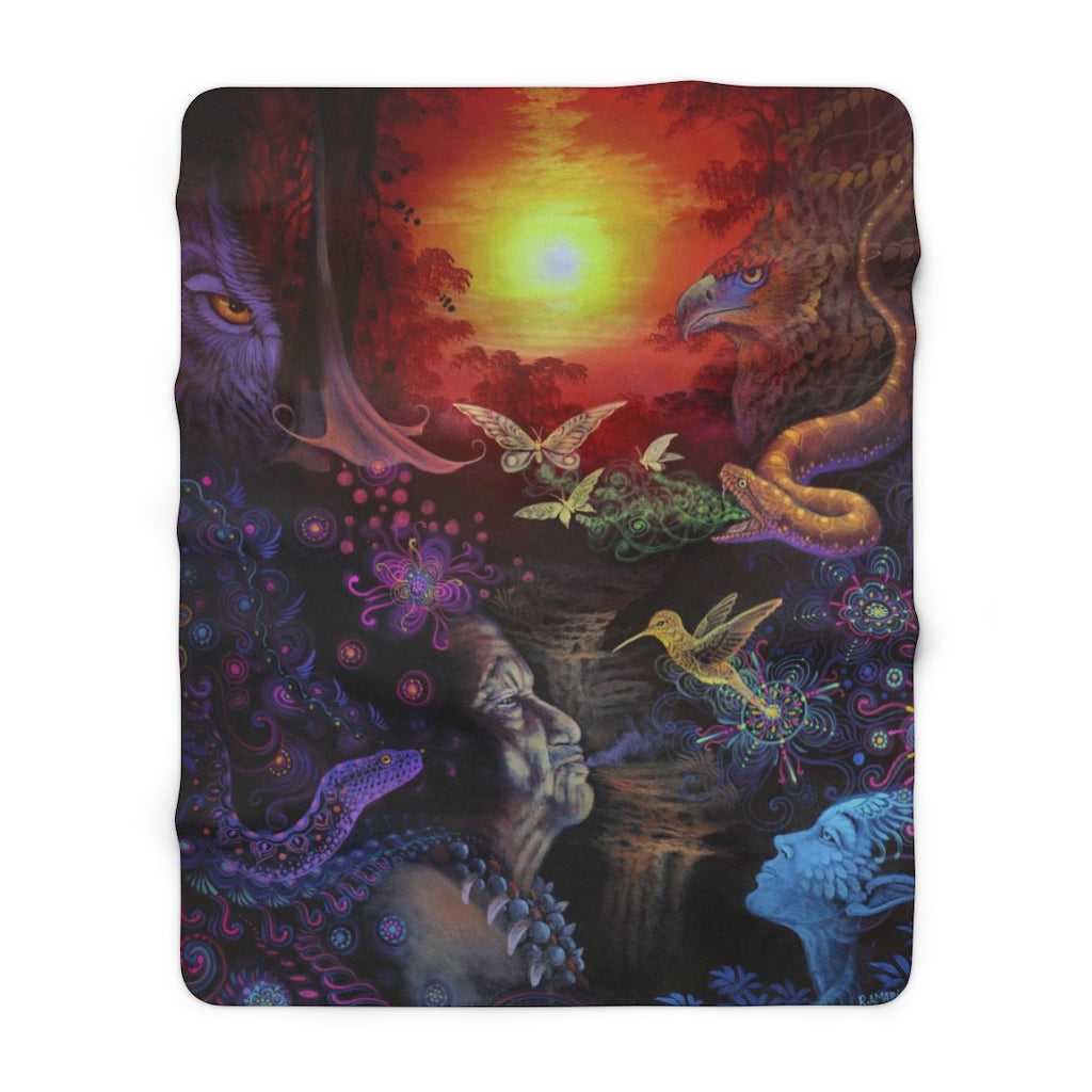 The Shaman - Sherpa Fleece Blanket