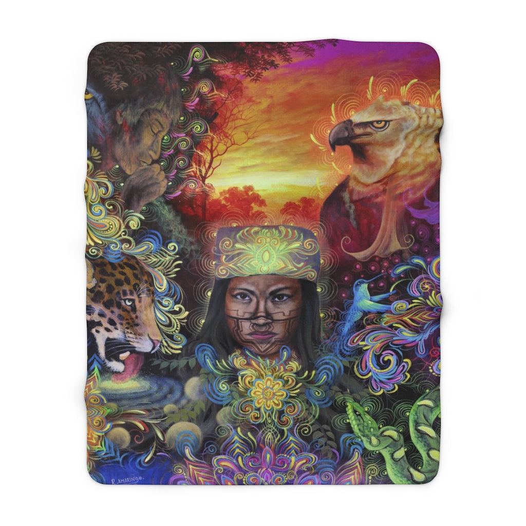 The Mystical Healer - Sherpa Fleece Blanket