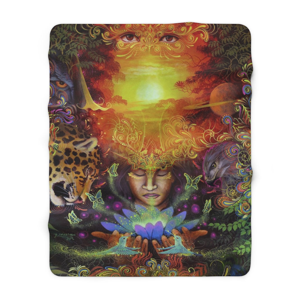 Visions of the Jungle - Sherpa Fleece Blanket