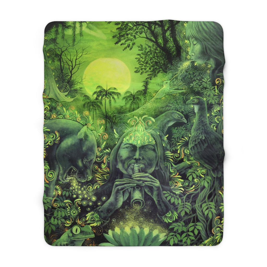 Jungle Melodies - Sherpa Fleece Blanket