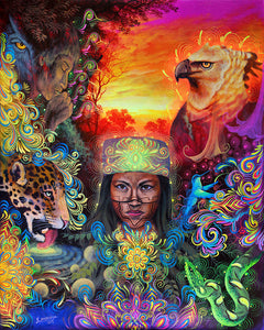 Facing The Journey: The Mystical Healer Limited Edition Canvas Print (SMALL)
