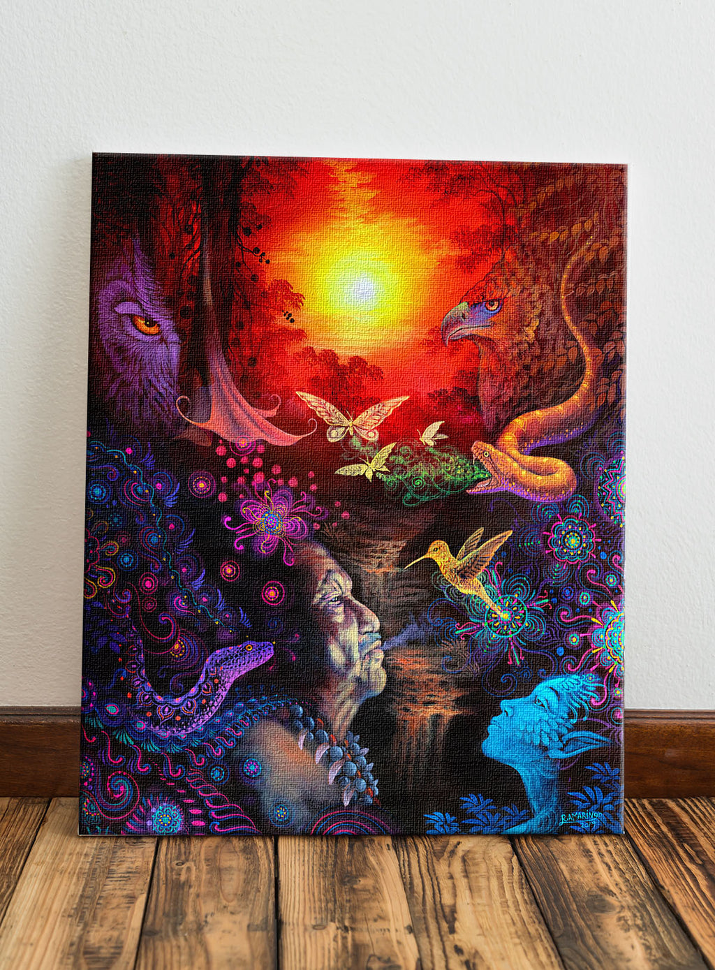 In the Shadows You See the Light: The Shaman Limited Edition Canvas Print