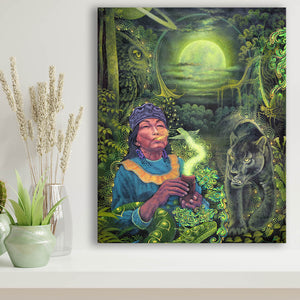 Walking With the Puma: Moon Guidance Limited Edition Canvas Print